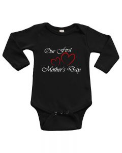 Infant Long Sleeve Bodysuit -Our First Mother's Day