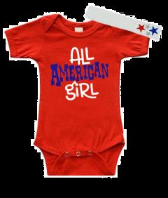 All American Girl Baby Bodysuit Patriotic
