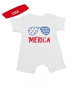 Merica Baby Romper Gift Set