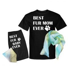 Best FUR mOm Ever/Best Fur Dog Ever Set - Dog and Adult Gift Set