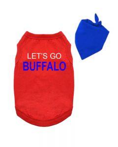 Lets Go Buffalo Dog Shirt