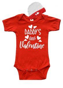 Daddy's Little Valentine Baby Gift Set