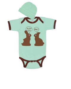Funny Easter Baby Outfit, Easter Baby Gift Set, Chocolate Bunny Easter Baby Bodysuiit