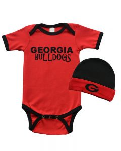 Short Sleeve Bodysuit and Cap Set Georgia