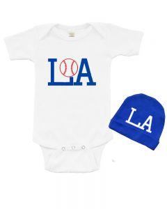 LA Baseball Baby Bodysuit and Cap Set