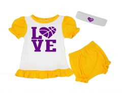 lakers baby girl outfit