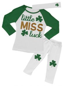 Little Miss Luck St Patricks Outfit