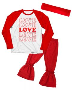 Love Valentines Day Toddler Outfit