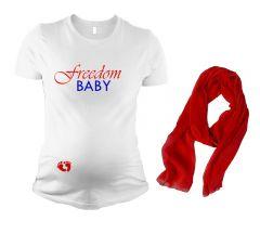 Maternity Patriotic Pregnancy T Shirt Gift Set