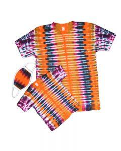 Matching Adult, Kids Tie Dye Shirts and Masks